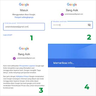 proses menambahkan akun gmail