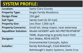 This challenging septic repair in Santa Clara County used AquaKlear to solve many problems
