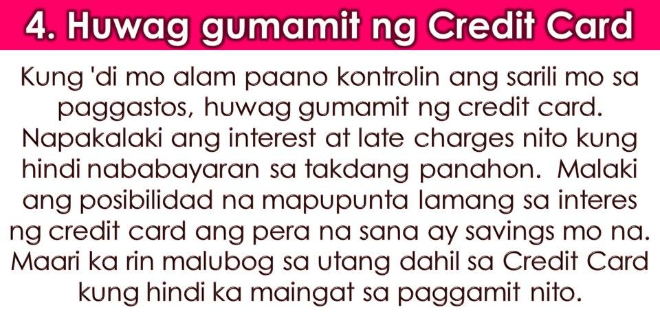 "For Overseas Filipino Workers (OFWs), saving money from monthly salary is not easy especially if you are earning just enough for your family and your needs. We all know that many OFWs are living from paycheck to paycheck because the big amount of their earning will go as remittances to their families back home.  But as the one working for our family, we should bear in mind that personal savings are very important, not just for retirement but also for emergency purposes. The lack of saving results in debt not just in OFWs but to all people.  Always remember, all people can save money. This is not just for people with high income but also for individuals who are earning less.All we need to do is to motivate ourselves and have a goal.  For OFWs, here are some easy tips to save money even you are earning low!  1. Save money on your housing cost.  As an OFW and you paid your own accommodation while working abroad you can always share your room with your fellow OFWs so that payment can be cut in half or more. Your savings from your housing cost is a good start.  2.  Knows how to budget.  Budgeting is very important in saving money from your monthly salary. You can now buy cheap things at thrift stores. Always buy your basic needs and stop being an impulsive buyer. You can buy the things you want in the future if you already have enough savings for yourself. A written budget is very important to track your expenses.  3. Consider 2nd hand items.  Second-hand item is cheaper compared to brand new. Or when buying things, always compare the price and look for the lowest. You can also buy stuff online. Online shopping has many benefits things are purchased at a very reasonable price. Through this, you can save money from your low budget.  4. Do Not Use Credit Cards  If you do not know the pros and cons of using a credit card, don't use it. If you do not know the interest rate and possible hidden charges credit card brings, your money will be wasted in these fees. The best way is to pay in cash to avoid trouble.   5. Enjoy saving money!  Do not think you deprived yourself of the things you want because you are saving money. Always remember, saving money is not just for what is here and now. It brings benefits for your future plans especially for retiring early as OFWs. Control your spending by thinking what is important for your future and for your family.  6. Save Money On Your Food  This does not mean you skip a meal to save! Avoid too much fast food or coffee. Cooking your own food will give you a lot of savings. Pack a healthy lunch and enjoy listing a menu for a week. Always remember, ""wasting food is also wasting money.""  7. Look for a Sideline  If saving money from one job is hard why don't you look for an extra-job? There are many skilled OFWs who can render services to their fellow countrymen such as fixing or repairing computer or cell phone. You can also earn extra money online.   8. Save Your Pennies  We used to have piggy banks when we are young. This is still applicable for adults. You can use empty bottles or jars for your pennies. You won't notice until its full one day.   9. Do not follow the crowd.   ""Keep up with the Joneses"" is not easy especially if you only have enough money.  Do not get jealous or envious of what other people have. Stop wasting money on parties and clubs. Live simply and save money!  10. Set Your Priorities  Your priorities will be your motivation to save. Ask yourself what's the reason why you are saving money? Is it for your future? Or you want to invest in something more beneficial and profitable for your retirement? This will be your priorities on your saving plan."
