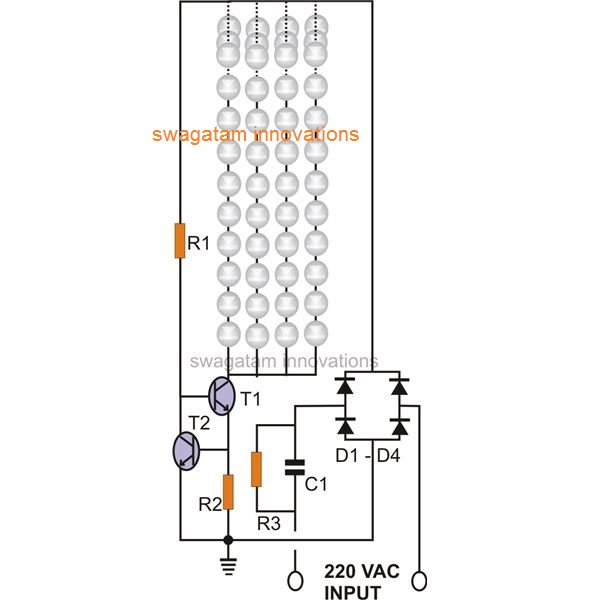 simple led tubelight explained comprehensively rh homemadecircuitsprojects com led tube light circuit diagram pdf led tube light basic circuit diagram