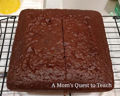 Square chocolate cake