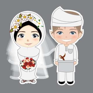 kartun gambar pasangan muslim dan muslimah