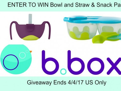 B. Box Bowl w/Straw and Snack Pack #Giveaway