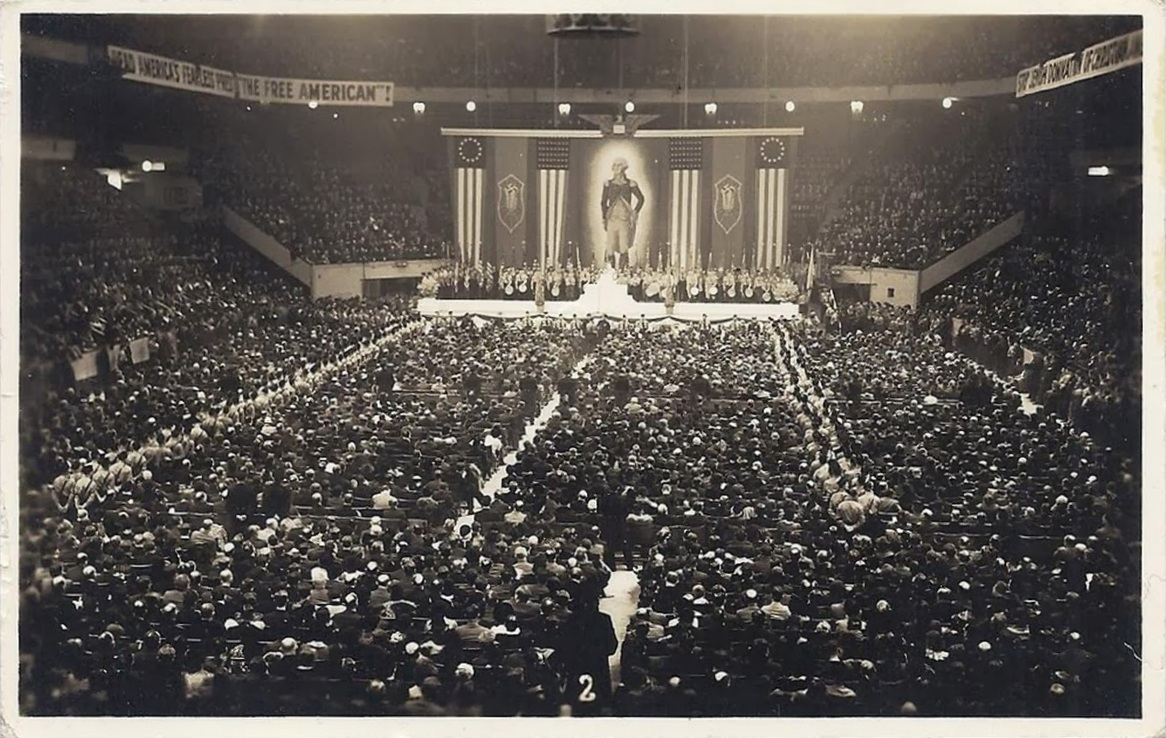 Fascism in the usa pictures of american nazi organization - Madison square garden nazi rally ...