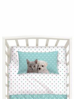 Baby Cuccioli de Caleffi Studio Pets. Juego de sábanas 3 piezas CUNA
