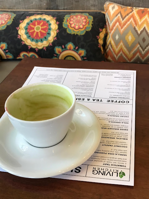 Matcha Latte at Luna's Living Kitchen in Charlotte, NC