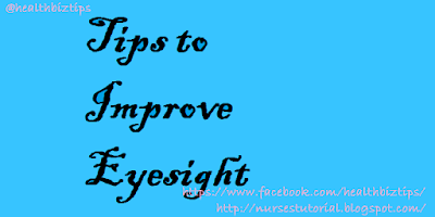 Tips to Improve Eyesight