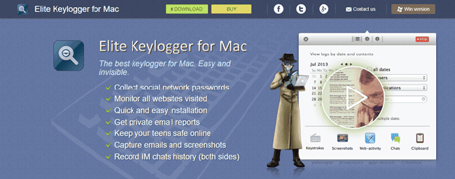 Elite Keylogger for MAC