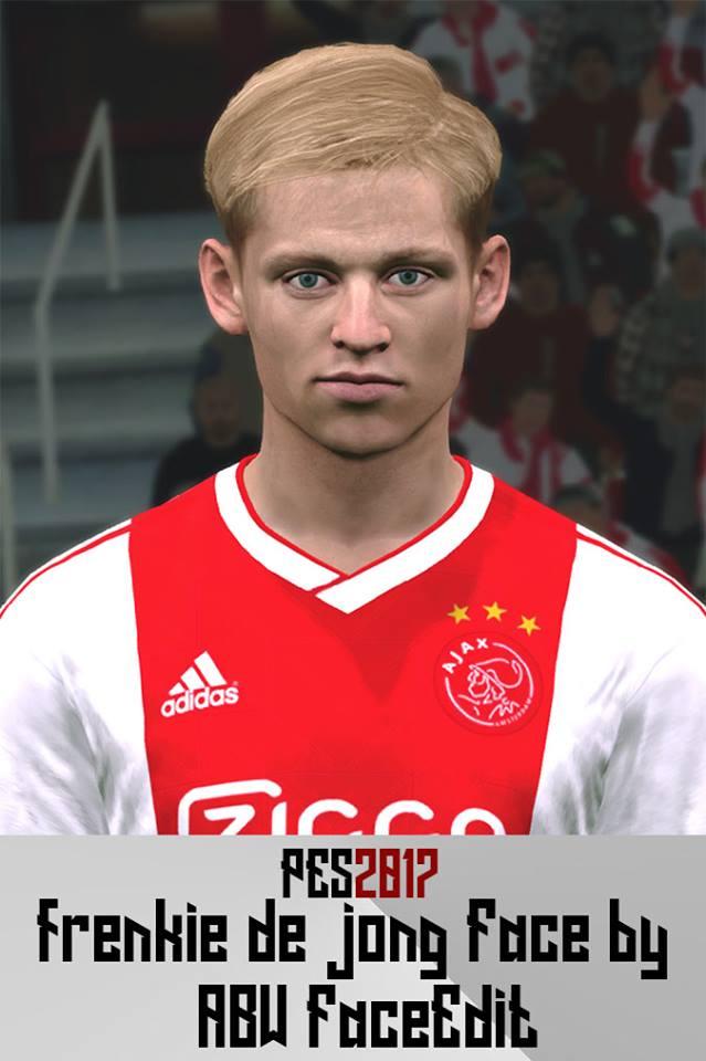 PES 2017 F. De Jong face by ABW_FaceEdit