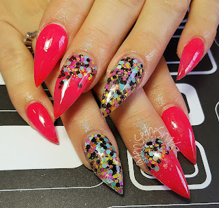 hot pink color change stilettos