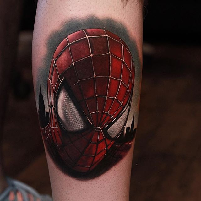 Beautiful Spiderman Tattoos