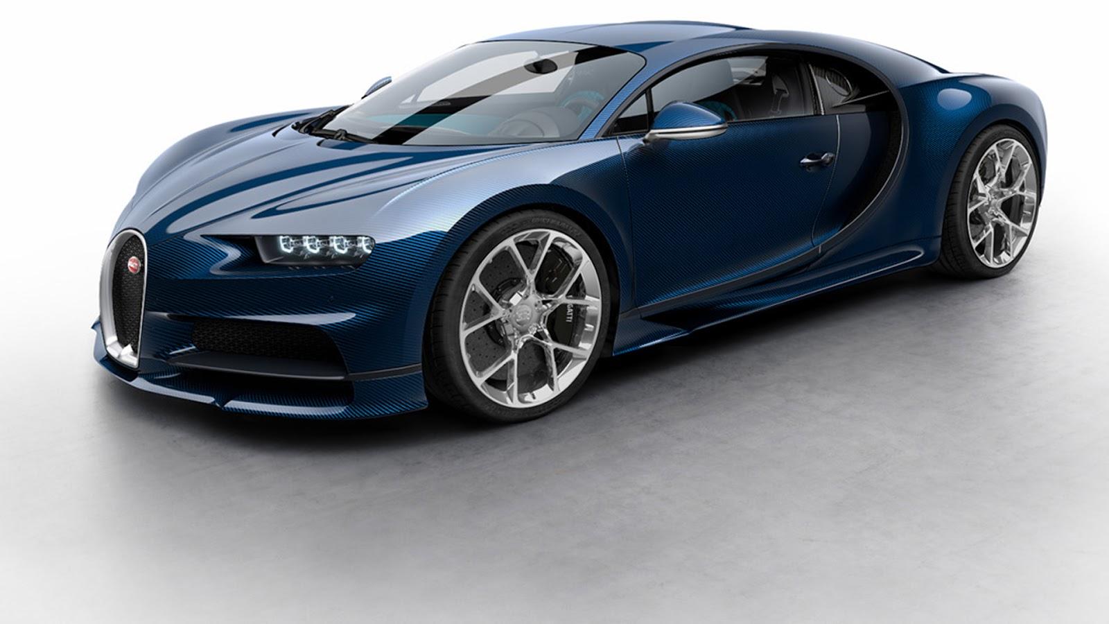 Bộ sưu tập đủ phiên bản màu sắc của Bugatti Chiron