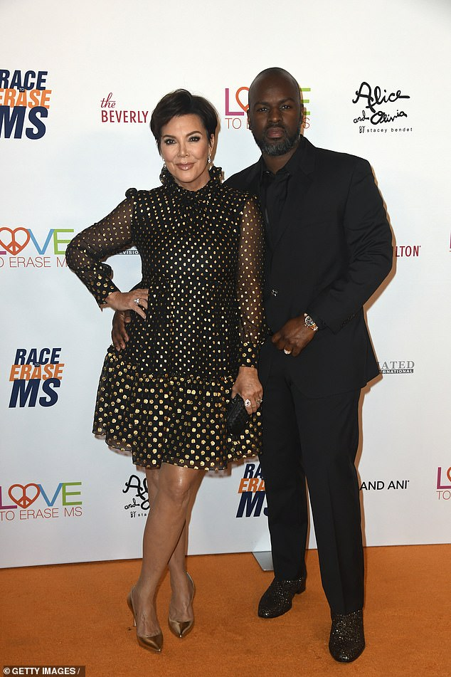 Kris Jenner enjoys a night out with her boyfriend, Corey Gamble