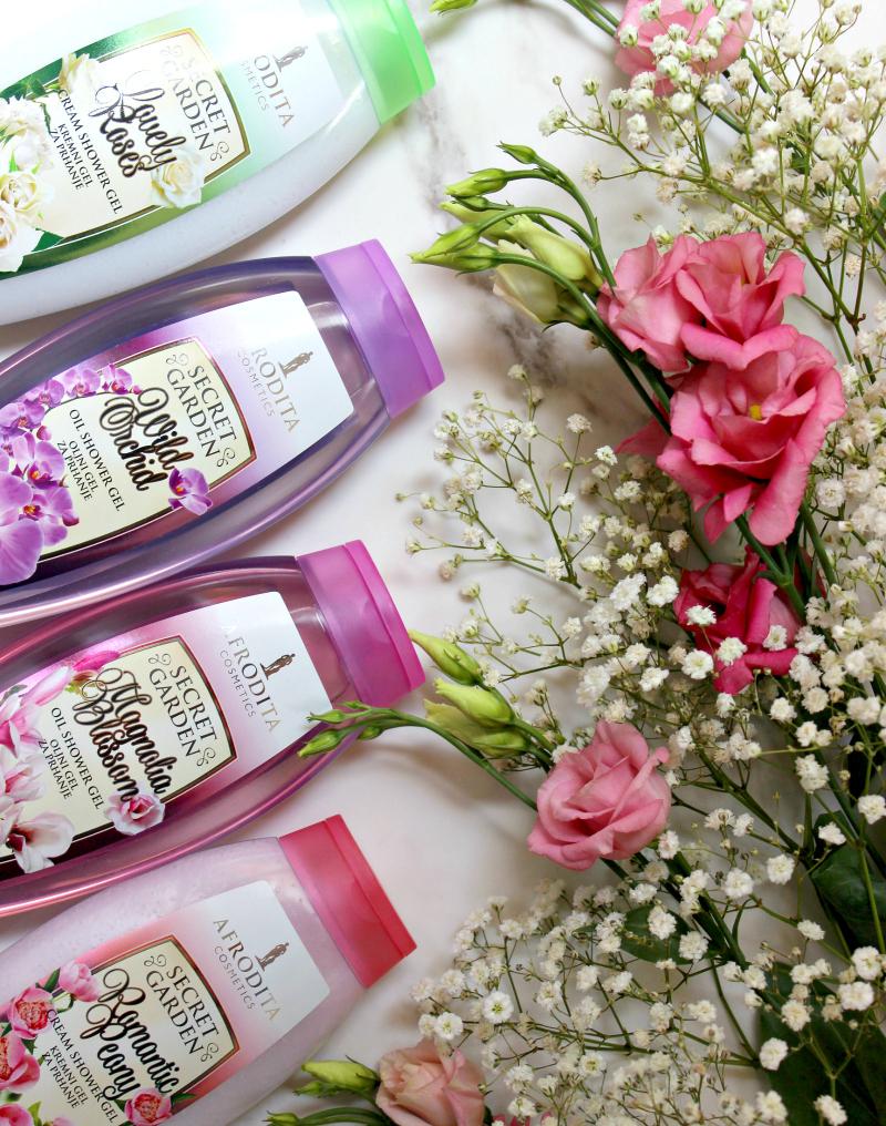 Kozmetika Afrodita Secret Garden gelovi za tuširanje