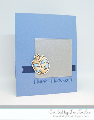 Happy Hanukkah card-designed by Lori Tecler/Inking Aloud-stamps from Paper Smooches