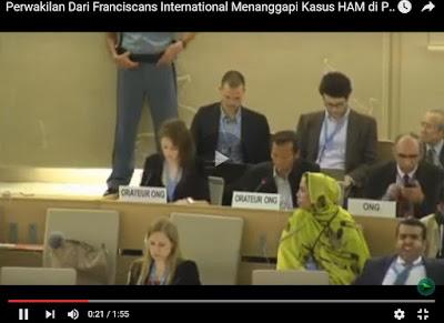 Video Budi Tjahjono Perwakilan Dari Franciscans International Menanggapi Kasus HAM di Papua