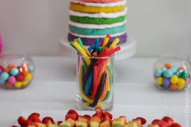 Rainbow Twizzlers, Rainbow Gumballs, Rainbow Fruit Skewers