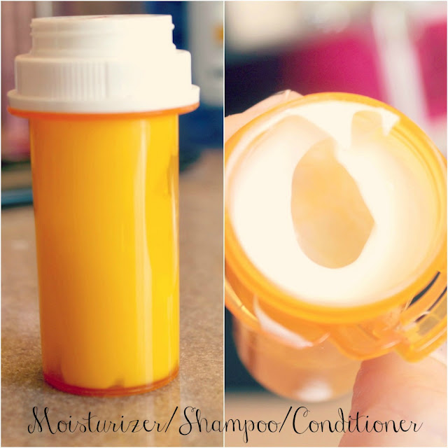 Moisturizer/Shampoo or Conditioner Container | Uses for Empty Pill Bottles Around the House | DIY Projects
