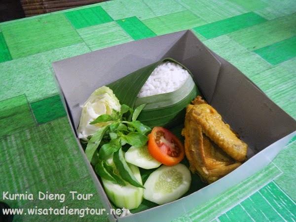 cathering nasi box di dieng wonosobo
