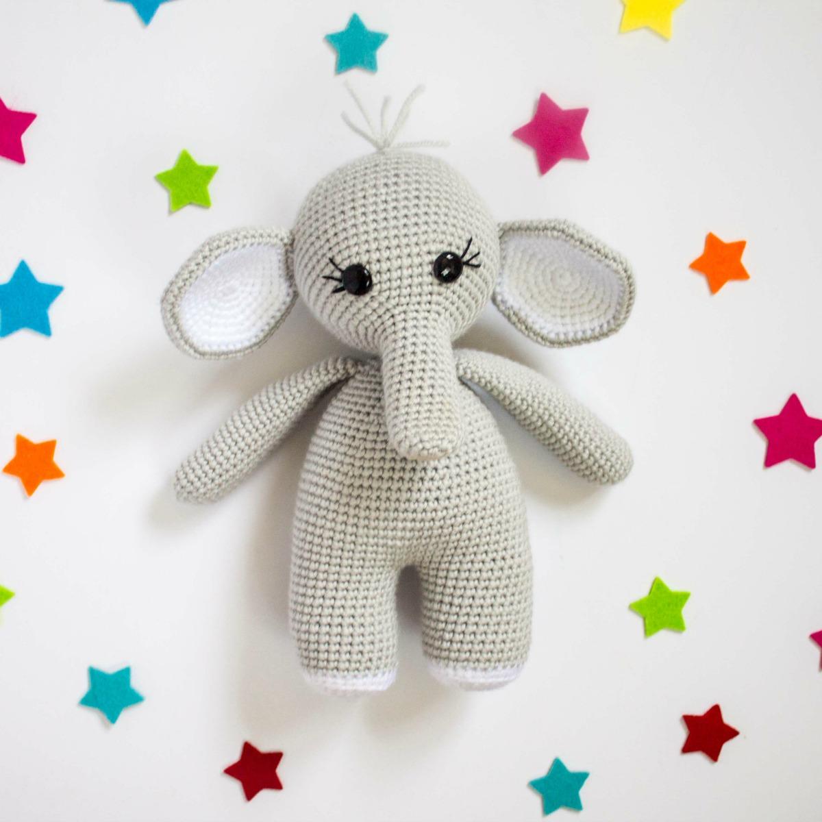 The Friendly Elephant Crochet A Long - thefriendlyredfox com