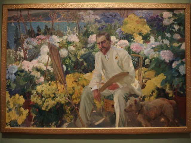 Painting of Louis Comfort Tiffany, 1911 by Joaquin Sorolla at the Painting the Modern Garden exhibition at the Royal Academy