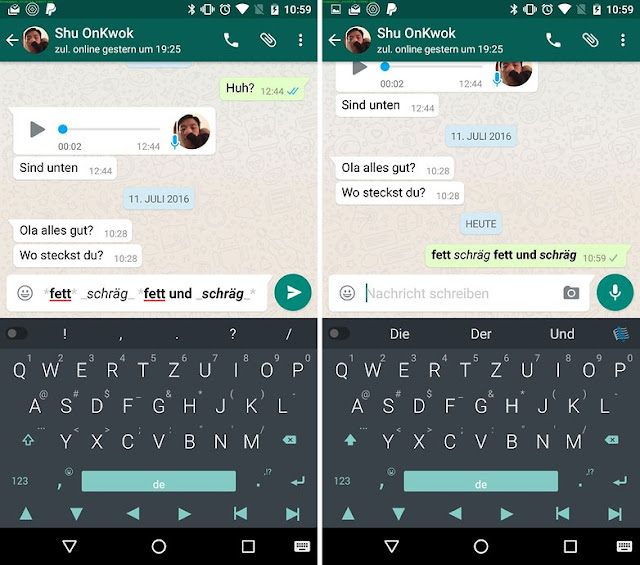 WhatsApp Formatting