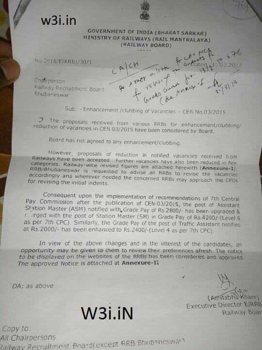 Railway to revise Vacancy, RRB NTPC Vacancy Decreased, ASM Goods Guard Vacancy decreases