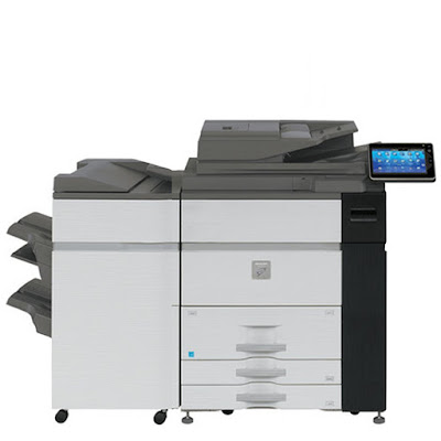 Mono Laser Multifunction Production Printer Sharp MX-M1054 Driver Downloads