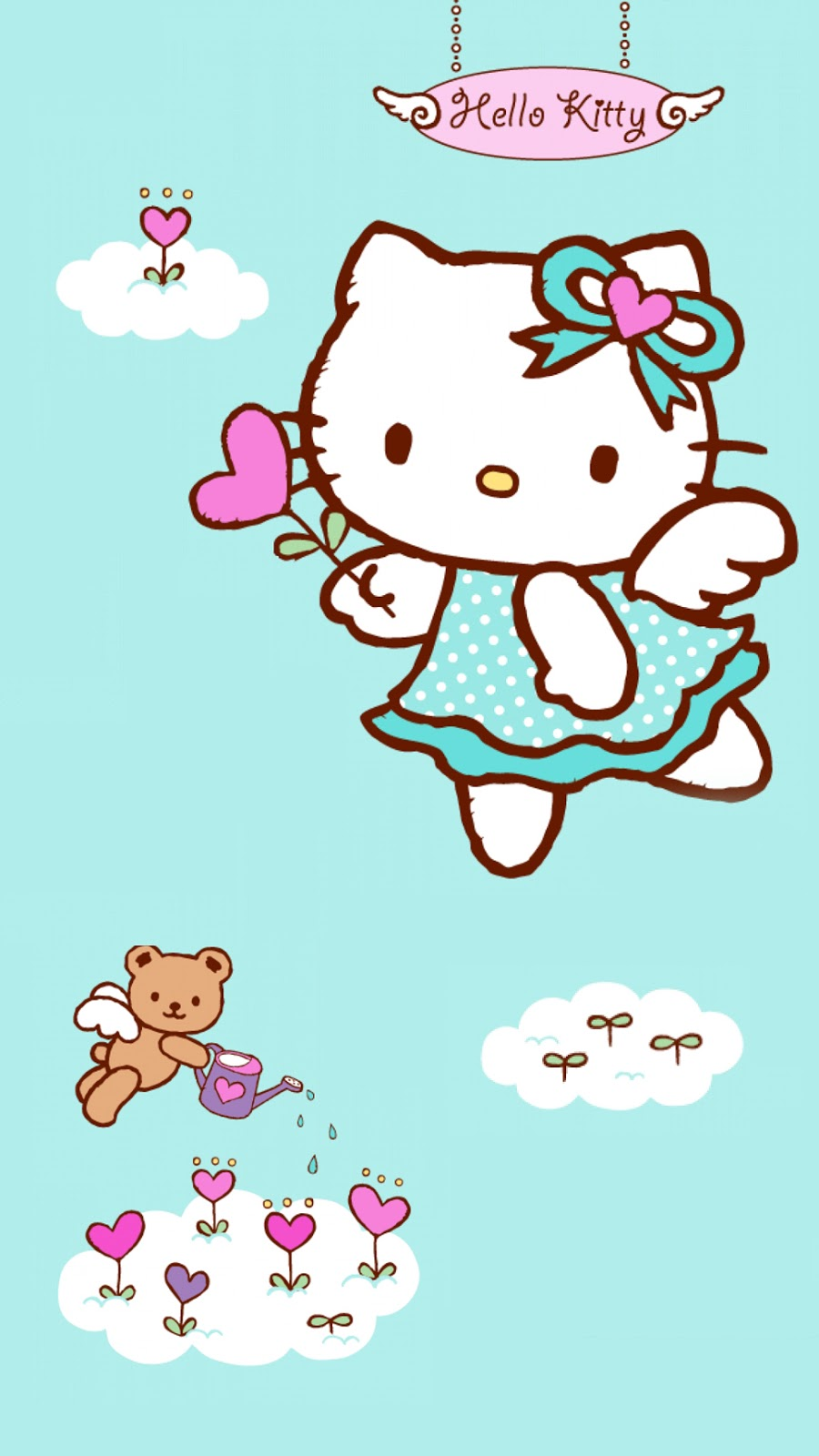 Kumpulan Wallpaper Wa Hello Kitty Pink Lucu