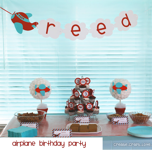 Airplane Birthday Party Create Craft Love