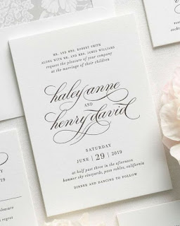 lovely letterpress wedding invitation collection
