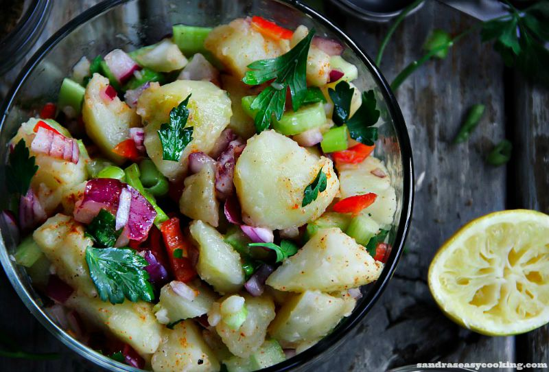 Easy Red Potato Salad with video tutorial