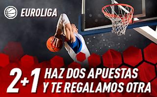 sportium promo Euroliga: 2+1 18-21 diciembre