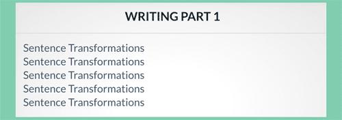 Writing sentece transformations for the PET exam