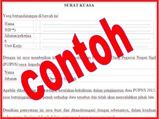 Surat kuasa dan pernyataan