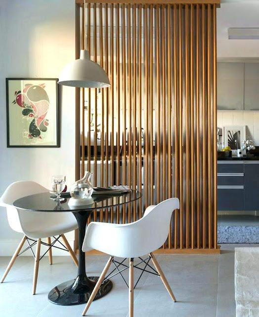 تصاميم و ديكورات فواصل خشبية بين الغرف