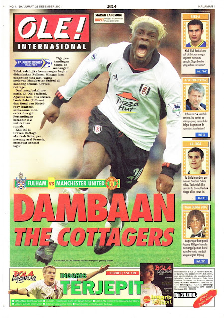 FULHAM VS MANCHESTER UNITED DAMBAAN THE COTTAGERS