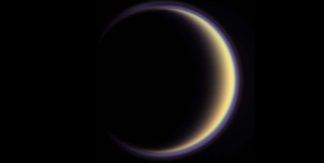 Titan's halo. Credit: NASA