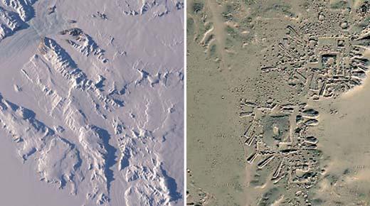 Ruinas de una antigua ciudad encontrados en la Antártida