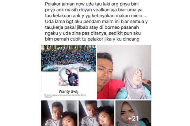 Suami Direbut Pelakor, Wanita Ini Posting Foto Suami Dan Pelakor Di Facebook