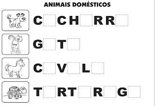 Bingo de animais domésticos