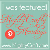 I was featured at MightyCrafty Mondays at MightyCrafty.me