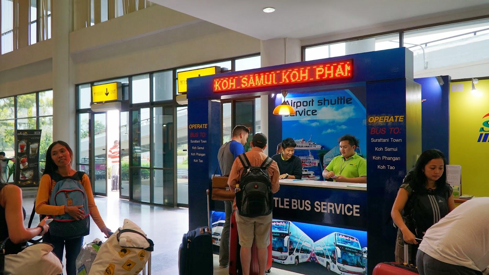 Arriving at Surat Thani international airport