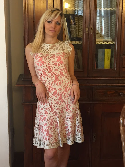 cosa indossare ad una cerimonia outfit pizzo outfit abito pizzo outfit primavera estate 2018 abito gloria bellacchio mariafelicia magno fashion blogger colorblock by felym fashion blogger italiane fashion bloggers italy lace dress how to wear lace dress