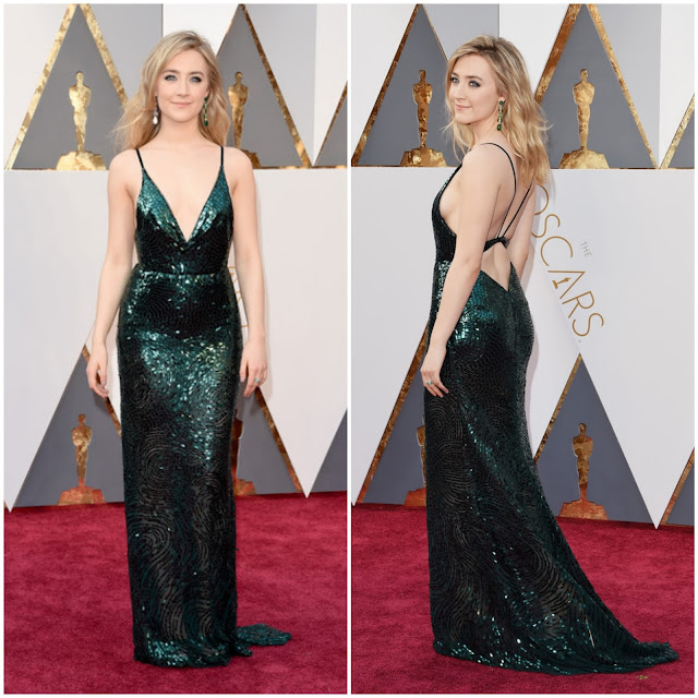 WHO WORE WHAT?.....88th Annual Academy Awards: Saoirse Ronan in Custom Calvin Klein Collection