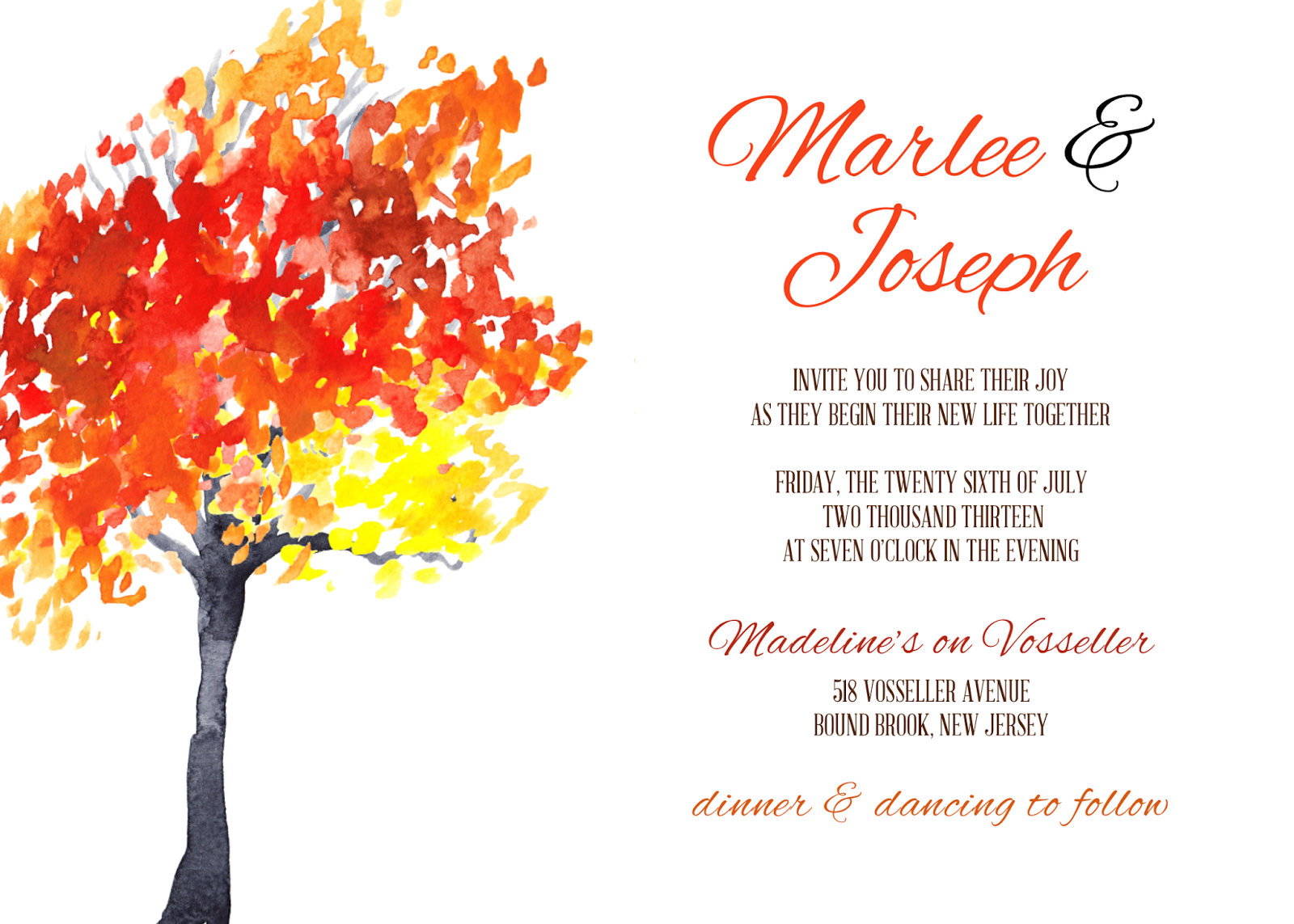 almost autumn time autumn wedding invitations Almost Autumn Time