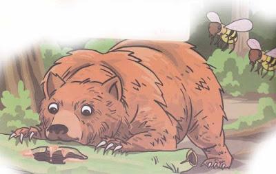 beruang dan lebah