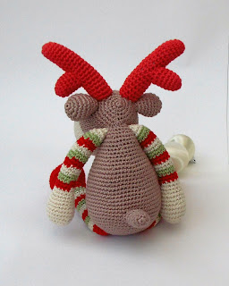 Reindeer Rudolf.Pattern.