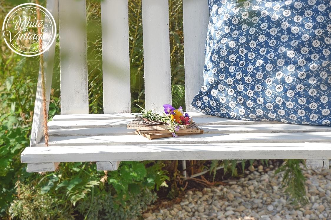 gartenschaukel aus paletten selber bauen white vintage. Black Bedroom Furniture Sets. Home Design Ideas