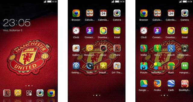 Tema Manchester United Android - Elegan